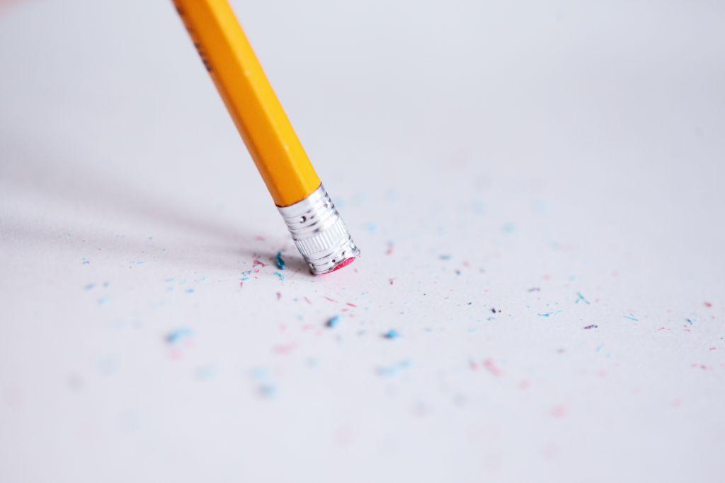 Bleistift mir Radiergummi